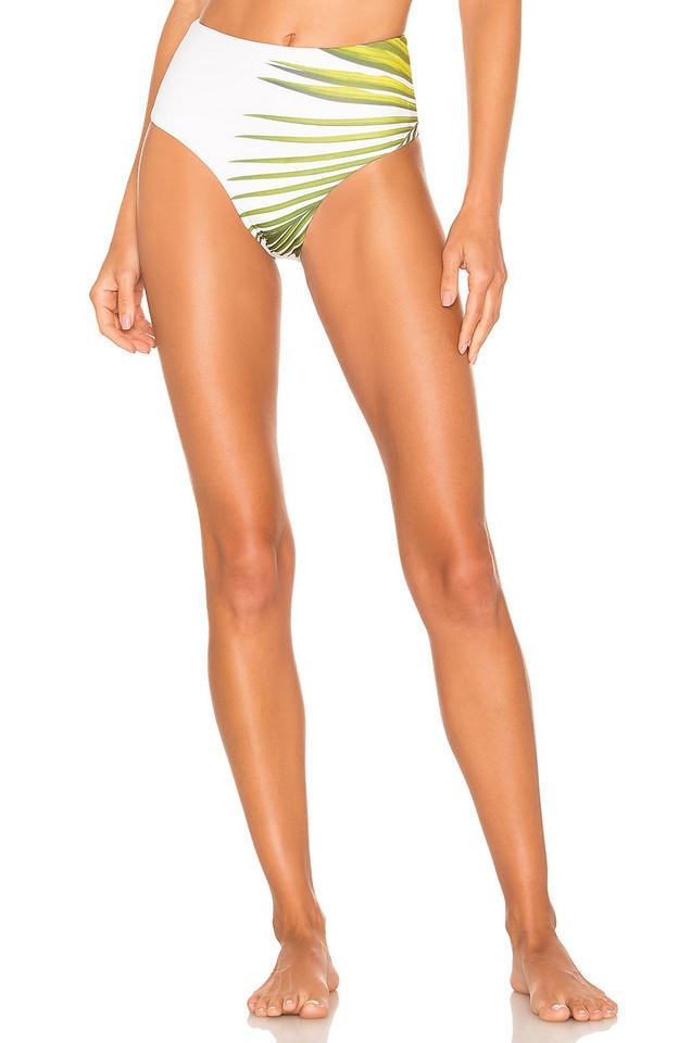 Cali Dreaming Swell Bikini Bottom in white