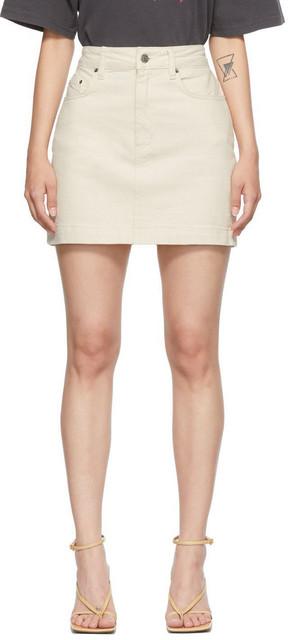 Ksubi Off-White Super X Miniskirt in ecru