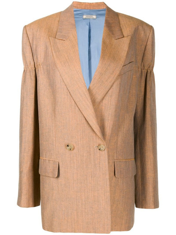 Nina Ricci double breasted blazer in orange
