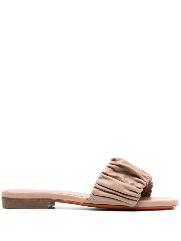 Santoni leather sandals in pink