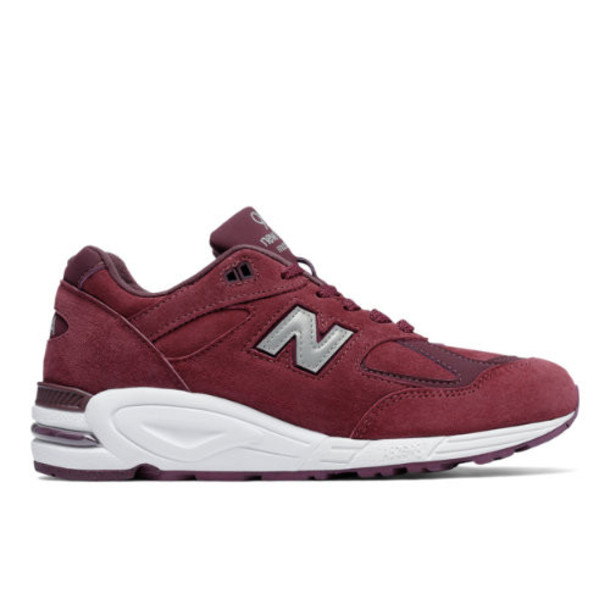 New Balance 990v2 Made in the USA Bringback Suede Men's Made in USA Shoes - Red/Silver (M990CIT2)