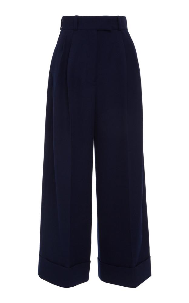 Miu Miu Wide-Leg Trouser in navy