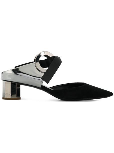Proenza Schouler pointed toe mules in black