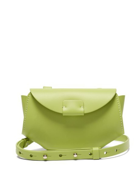 Nico Giani - Amelia Matte Leather Cross Body Bag - Womens - Light Green
