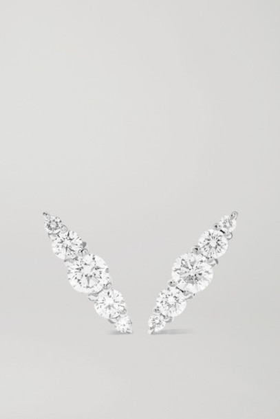 Melissa Kaye - Aria 18-karat White Gold Diamond Earrings