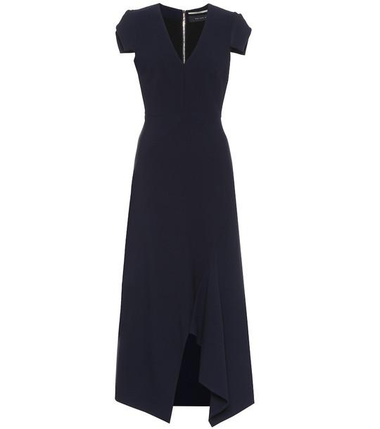 Roland Mouret Kingslake crêpe dress in blue