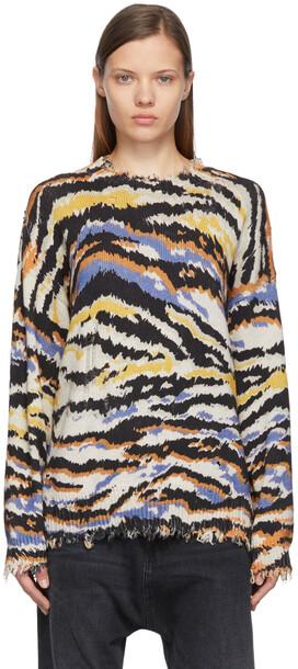 R13 Multicolour Zebra Sweater in multi