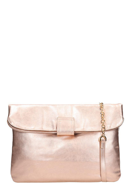 L'Autre Chose Powder Pink Laminated Leather Tote Bag