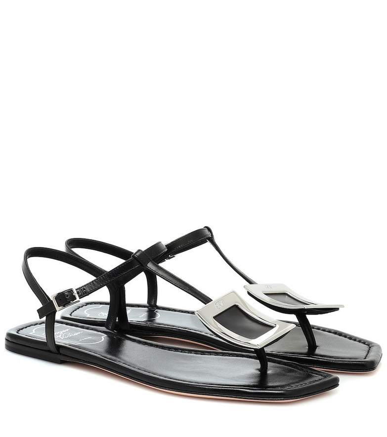 Roger Vivier Biki Viv' leather sandals in black