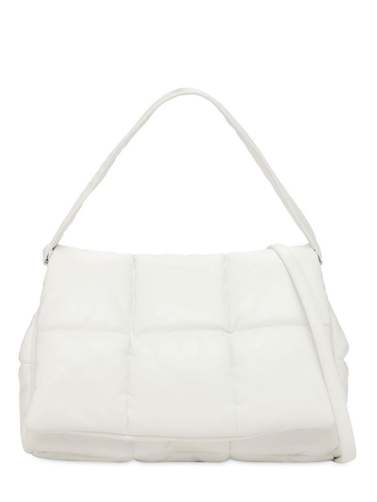 STAND STUDIO Wanda Quilted Leather Bag in white