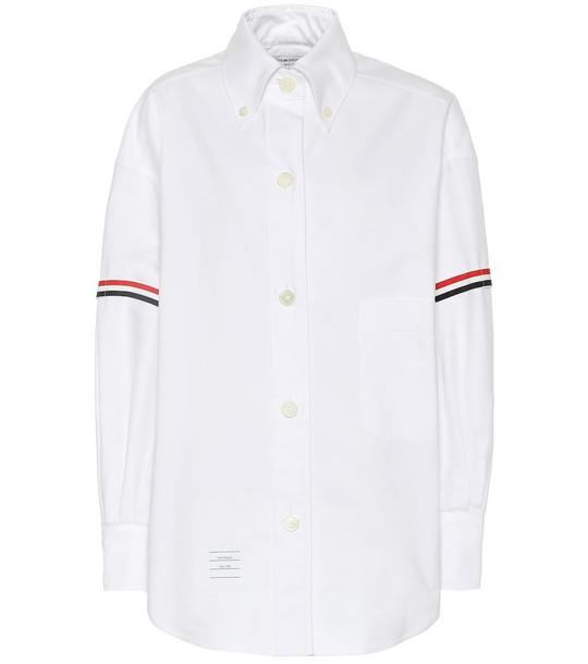 Thom Browne Cotton shirt in white