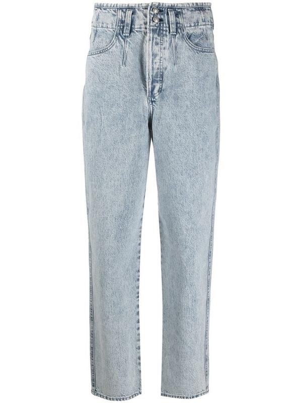 Rag & Bone straight-leg washed jeans in blue