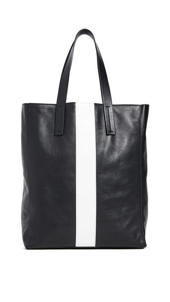 Tibi Le Client Small Tote Bag in black / white / multi