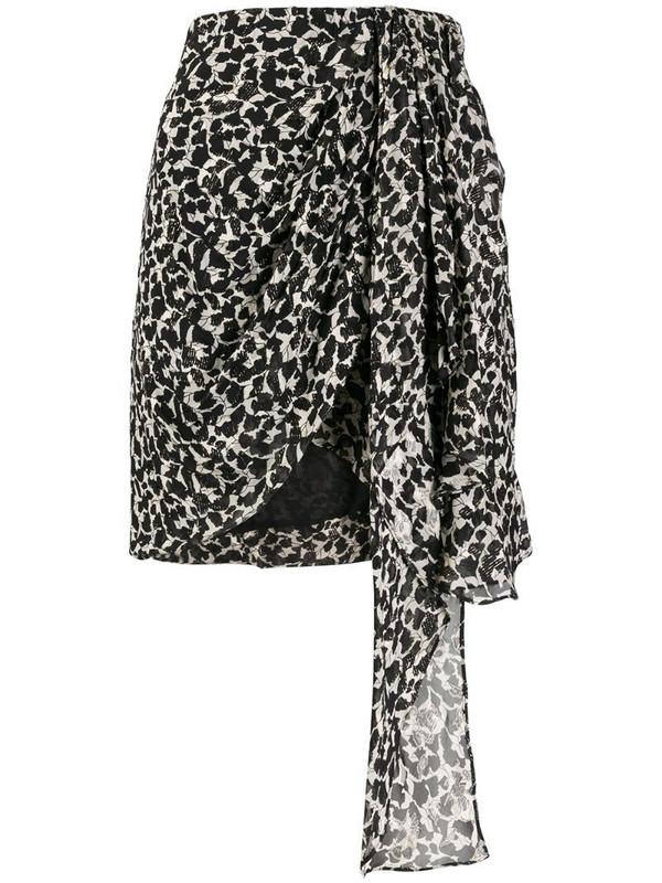 Isabel Marant printed wrap skirt in black