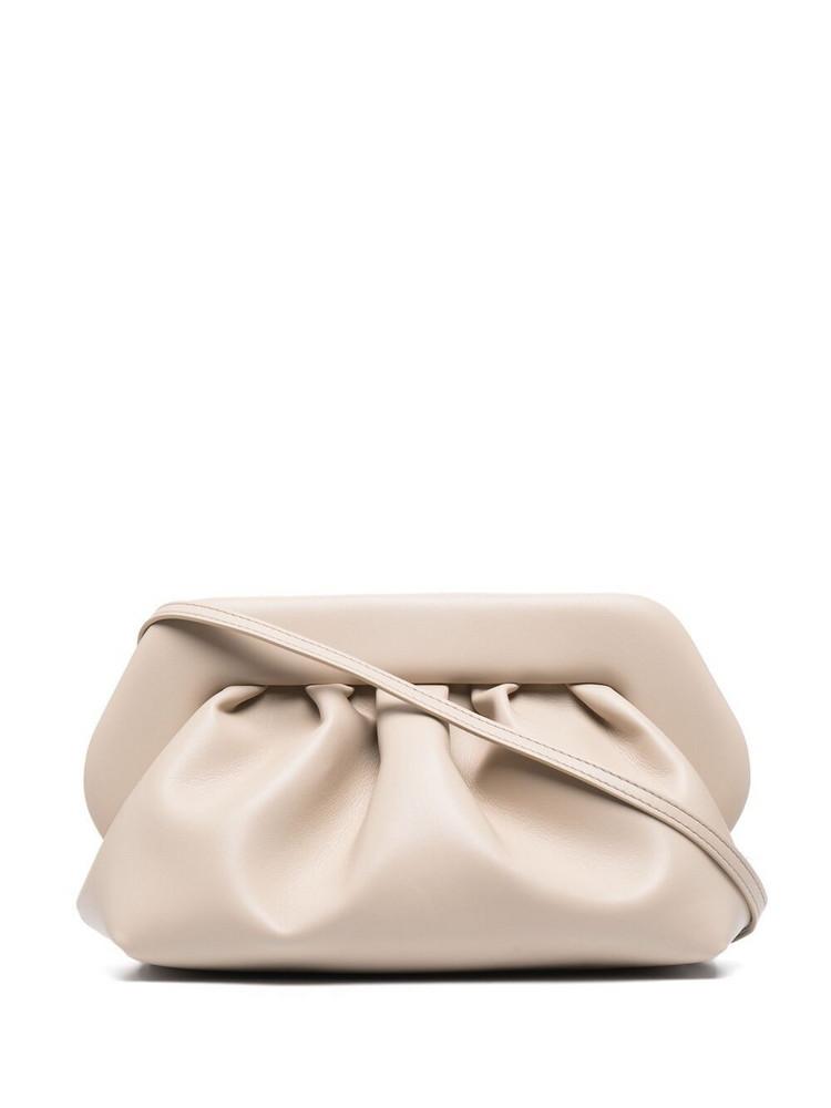 Themoirè Themoirè Bios leather clutch bag - Neutrals