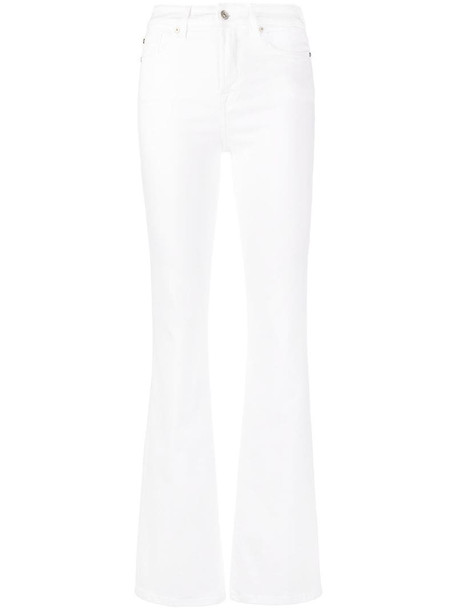 7 For All Mankind high-rise bootcut jeans in white
