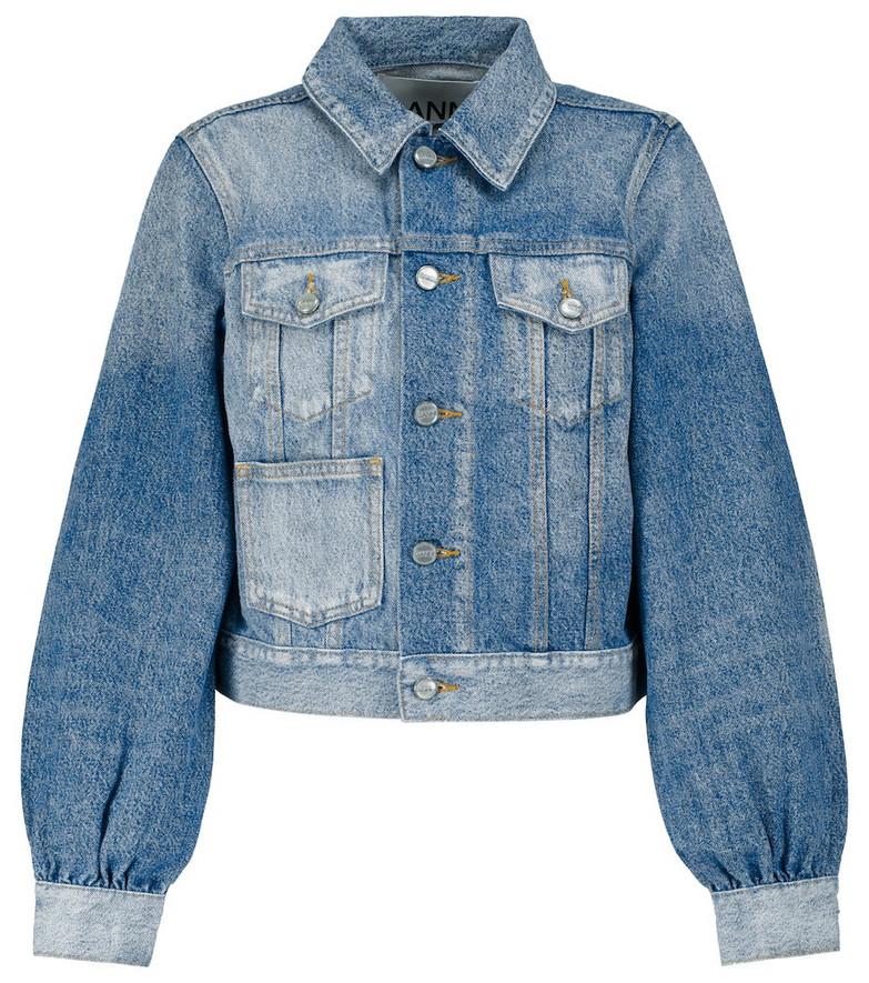 GANNI Denim jacket in blue
