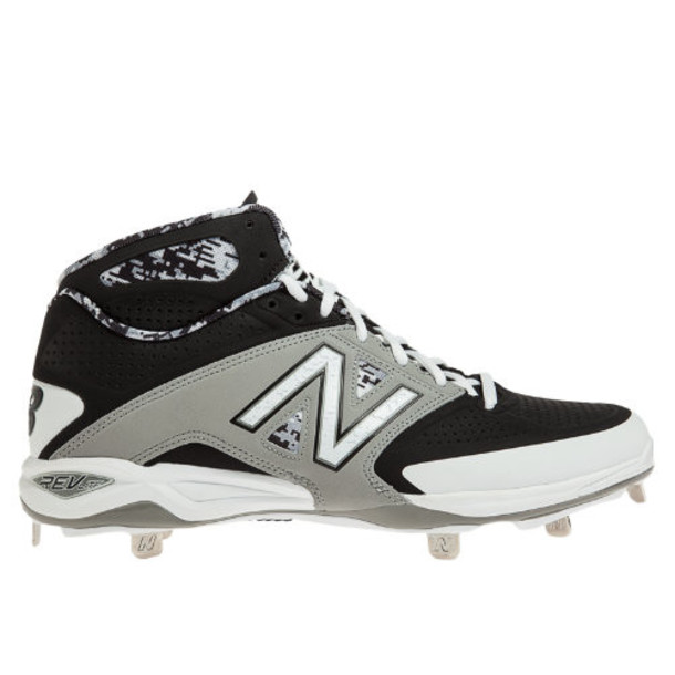 New Balance Mid-Cut 4040v2 Metal Cleat Men's Mid-Cut Cleats Shoes - Black, Grey, White (M4040GK2)