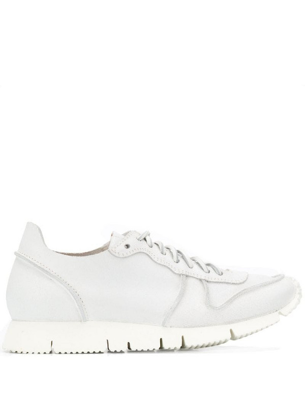 Buttero reverse stitch sneakers in white