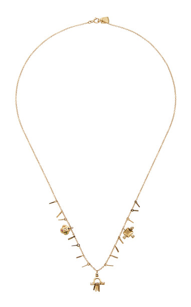 SCOSHA Temple 10K Gold And Multi-Stone Necklace