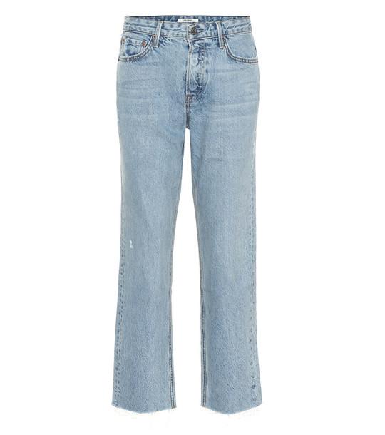 Grlfrnd Helena high-rise cropped jeans in blue