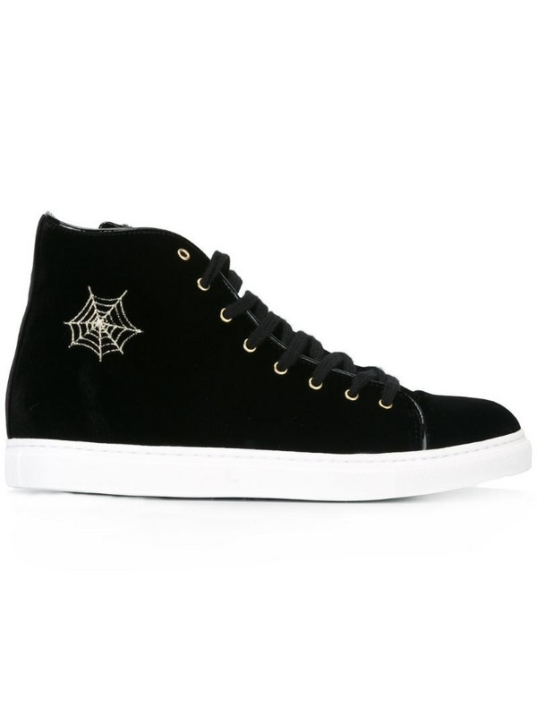 Charlotte Olympia 'Purrfect' hi-top sneakers in black