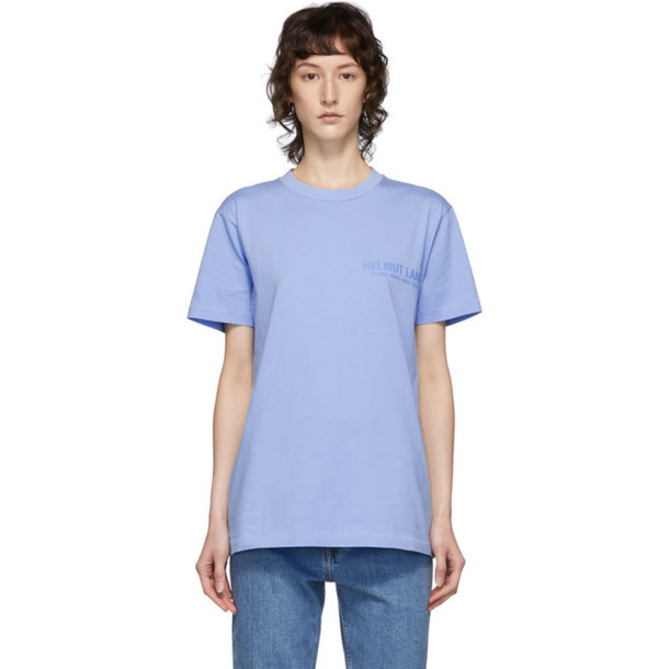 Helmut Lang Blue Standard Monogram T-Shirt