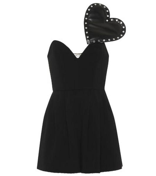 Saint Laurent Crêpe sablé playsuit in black