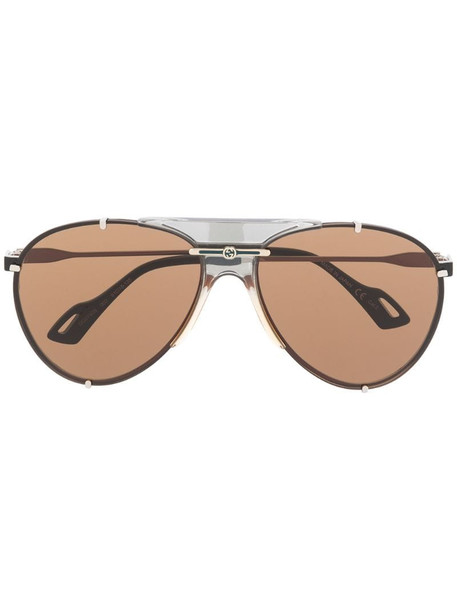 Gucci Eyewear GG0740S aviator-frame sunglasses in black