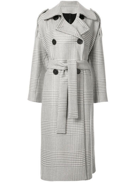 Petar Petrov double breasted trench coat in grey