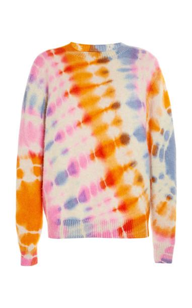 The Elder Statesman Illusion-Dyed Cashmere Sweater Crew in multi
