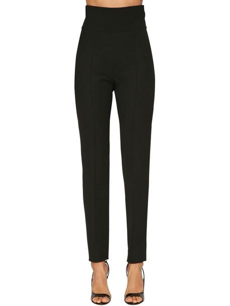 ALEXANDRE VAUTHIER High Waist Wool Gabardine Pants in black