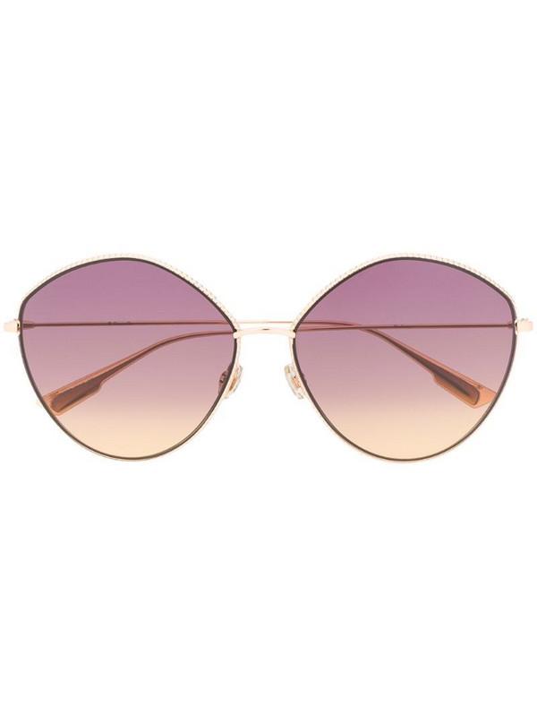Dior Eyewear round-frame oversized sunglasses in gold