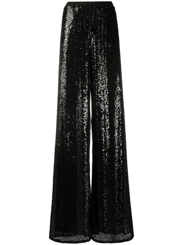 Alchemy sequinned wide-leg trousers in black
