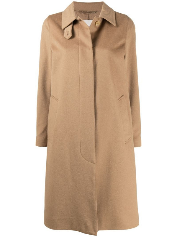 Mackintosh Dunkeld collared coat in neutrals