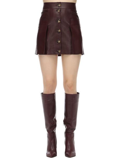 DODO BAR OR Leather Mini Skirt