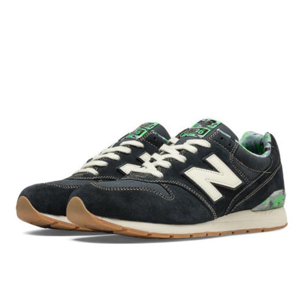 New Balance 696 Urban Noise Men's Running Classics Shoes - Navy, Green Flash, Grey (MRL696FI)