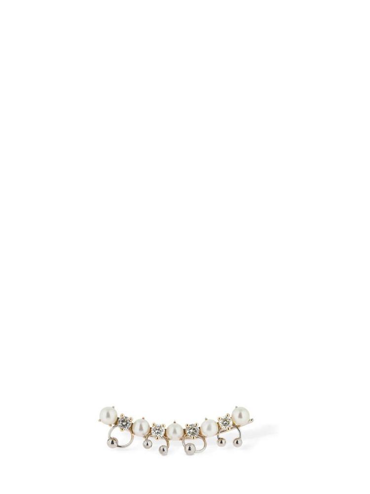 DELFINA DELETTREZ Diamond & Pearl Mono Ear Jacket