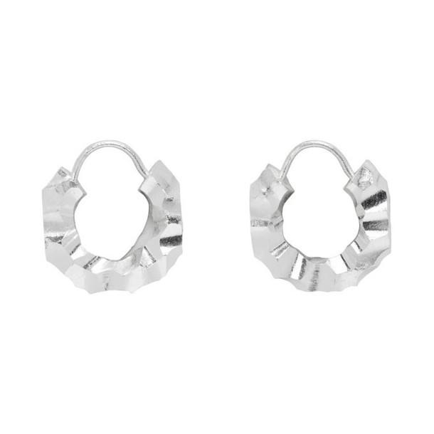 All Blues Silver Fat Baby Snake Earrings