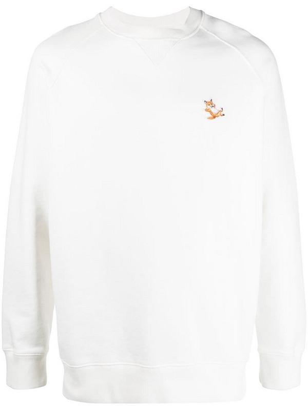Maison Kitsuné Chillax Fox patch sweatshirt in white