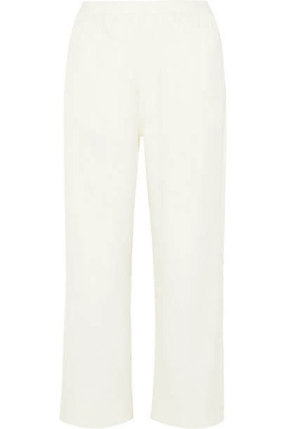 MM6 Maison Margiela - Cropped Twill Straight-leg Pants - Cream