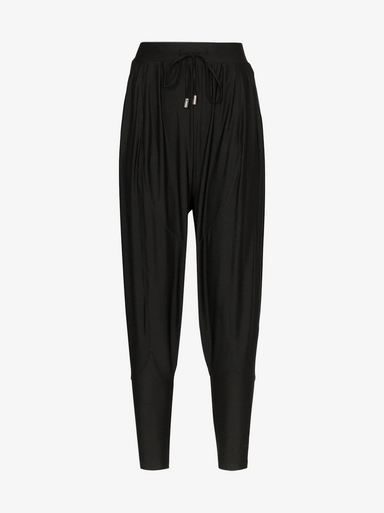 Charli Cohen Saber Matte tapered trousers in black