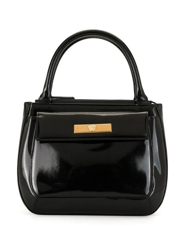 Versace Pre-Owned Medusa plaque handbag in black