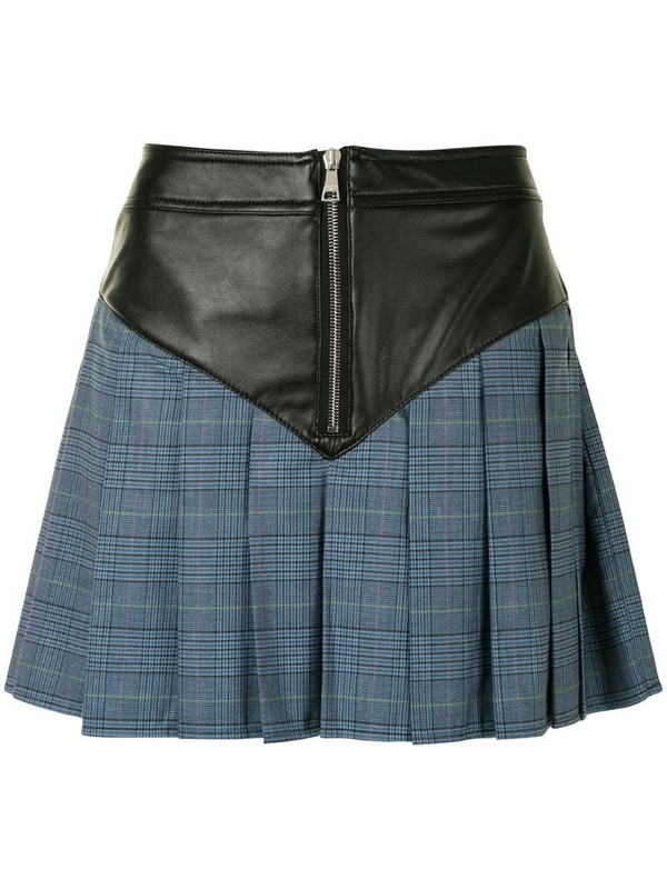 Natasha Zinko panelled pleated mini skirt in black