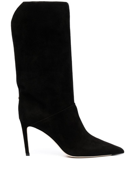 Jimmy Choo Beren 85mm suede boots in black