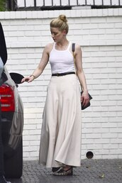 top,maxi skirt,amber heard,celebrity,tank top