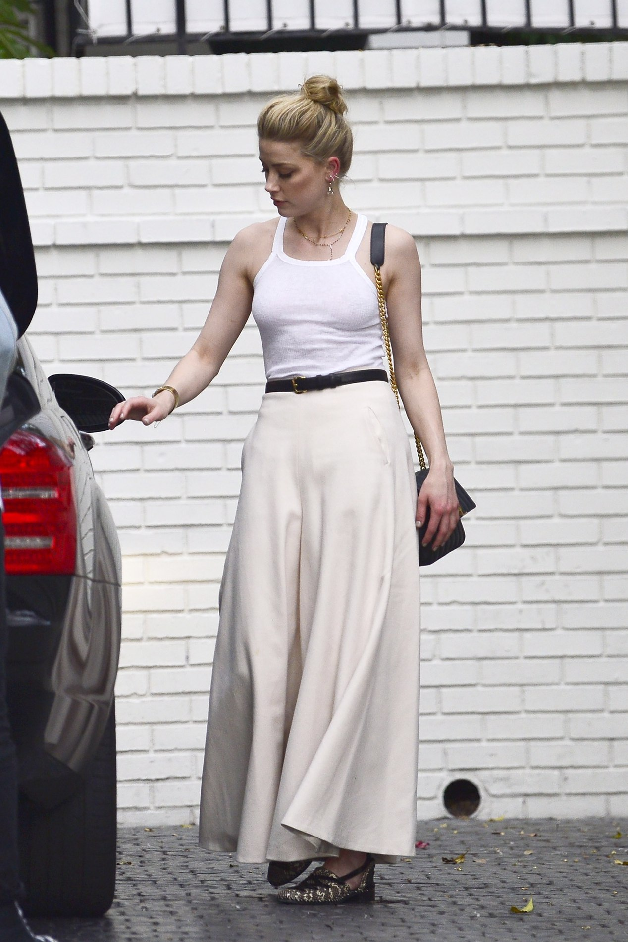 top maxi skirt amber heard celebrity tank top