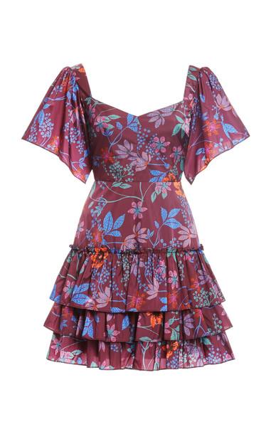 Alexis Deidra Ruffled Crepe Dress in multi