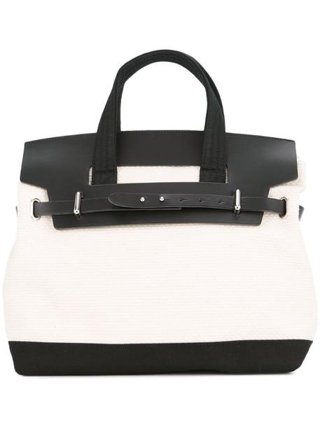 Cabas Nº55 day tripper mini bag in white