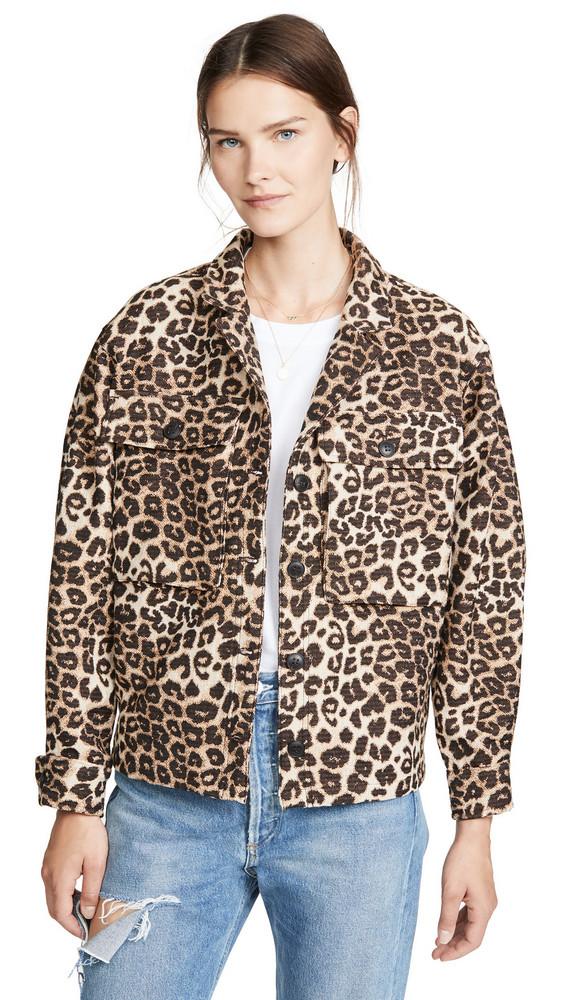 ANINE BING Flynn Jacket in leopard